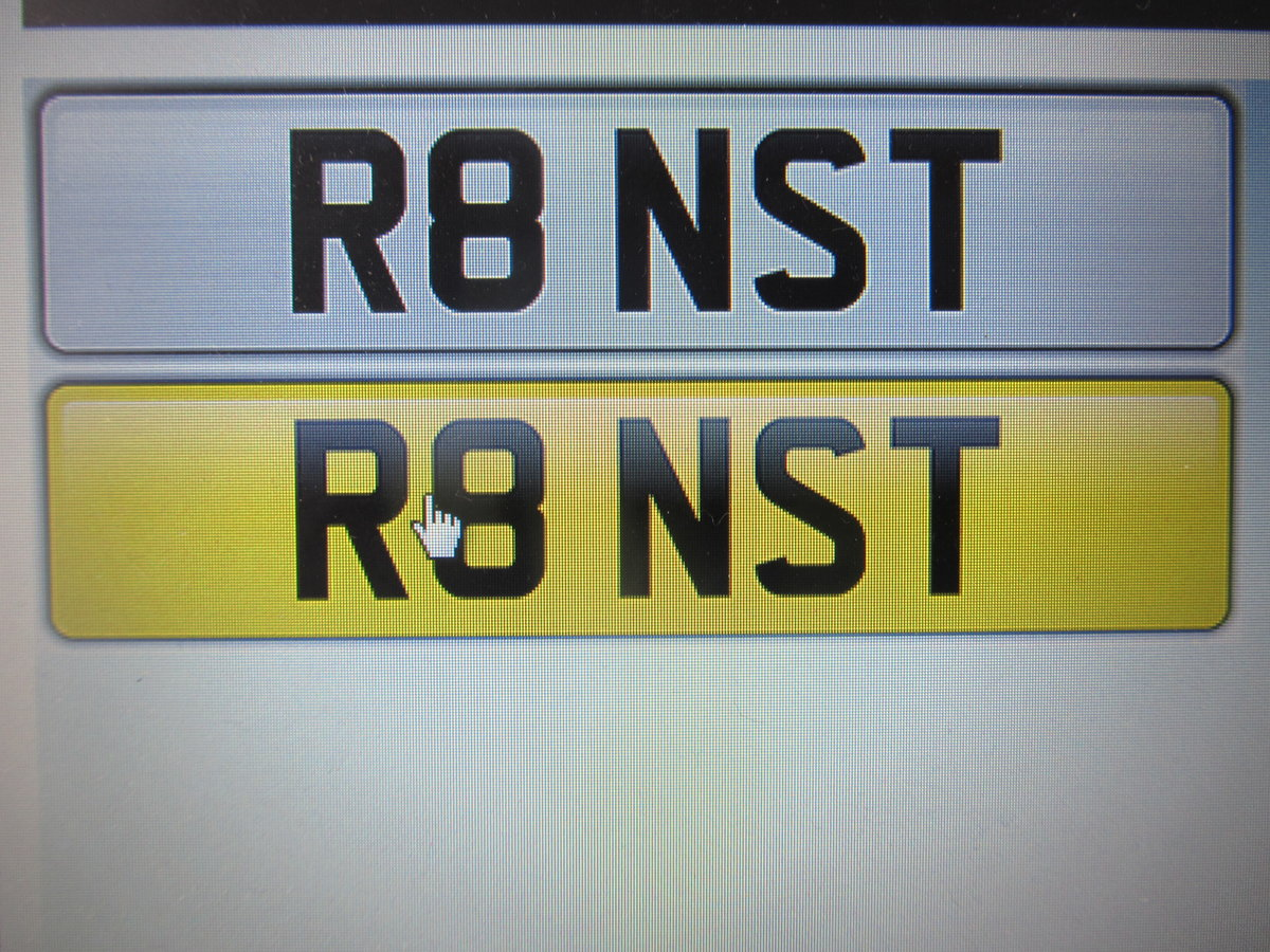 2008 Audi R8 Private Registration Number   For Sale (picture 1 of 1)