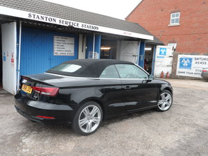 2014 CONVERTBLE AUDI  A/3 1400cc PETROL 6 SPEED MANUAL BLACK 43K