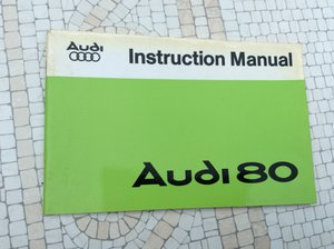 Audi 80 Instruction Book