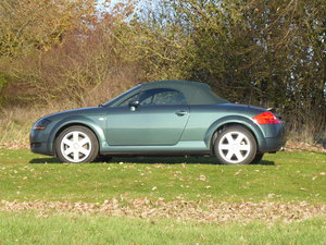 2001 Audi TT 225bhp 62k miles Full History Rare Dessert Green For Sale