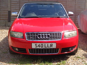 Audi S4 Briiliant Red Manual Cabriolet