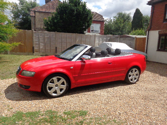 2004 Audi S4 Briiliant Red Manual Cabriolet SOLD (picture 2 of 6)