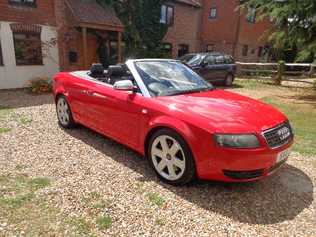 2004 Audi S4 Briiliant Red Manual Cabriolet SOLD (picture 3 of 6)