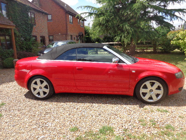 2004 Audi S4 Briiliant Red Manual Cabriolet SOLD (picture 4 of 6)