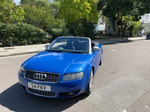 Audi S4 Cabriolet [FSH Manual Sprint Blue]