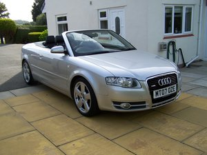 2007 EXCELLENT AUDI A4 2.0 TDI S-LINE CONVERTIBLE TWO OWNERS FSH