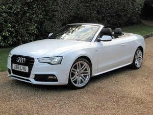 2015 Audi A5 2.0 TDI S Line Auto Cabriolet With 1 Lady Owner