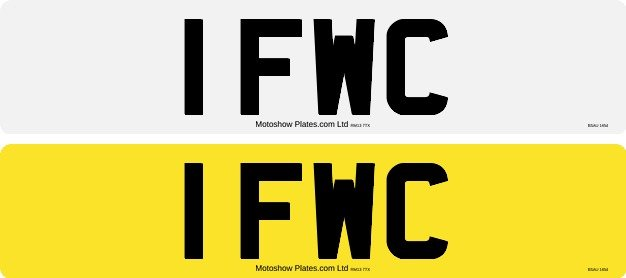 1 FWC - Number plate