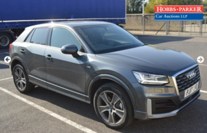 2017 Audi Q2 S Line TFSI S-A 4,146 Miles for auction 25th