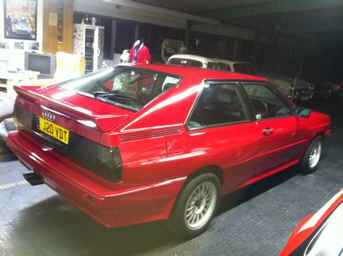 1989 Rare Audi UrQuattro 20 V right hand drive, 440 PS For Sale (picture 1 of 3)