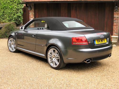 2006 Audi RS4 Quattro Cabriolet With Only 18,000 Miles From New For Sale (picture 5 of 6)