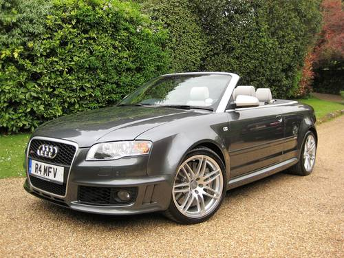 2006 Audi RS4 Quattro Cabriolet With Only 18,000 Miles From New For Sale (picture 1 of 6)