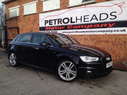 2014 Audi A3 2.0 TDI S Line Sportback 5dr For Sale (picture 1 of 6)