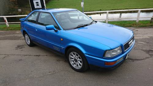1995 Audi 80 Coupe Full MOT Half Leather, Sunroof For Sale (picture 1 of 6)