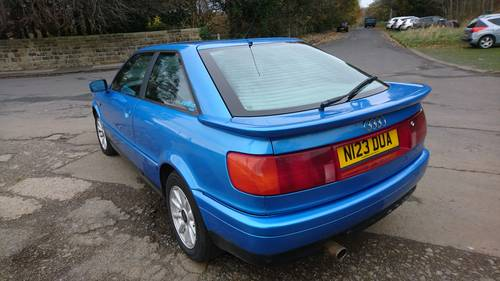 1995 Audi 80 Coupe Full MOT Half Leather, Sunroof For Sale (picture 2 of 6)