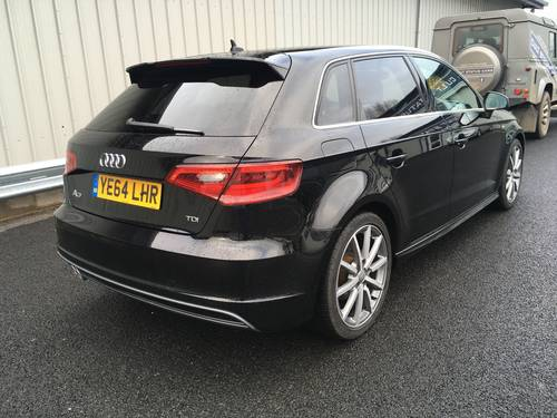 2014 AUDI A3 SPORTBACK 2.0 TDI S LINE 5D 148 BHP SOLD (picture 3 of 6)