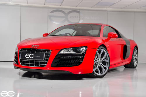 2010 Audi R8 V10 in Red - Manual Transmission - 24K Miles SOLD (picture 2 of 6)