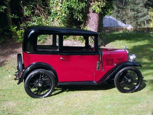 1933 AUSTIN SEVEN SLOON  SOLD (picture 2 of 6)
