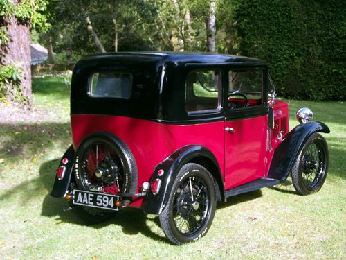 1933 AUSTIN SEVEN SLOON  SOLD (picture 5 of 6)