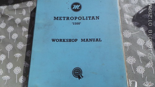 2002   metropolitan workshop manual For Sale (picture 1 of 6)