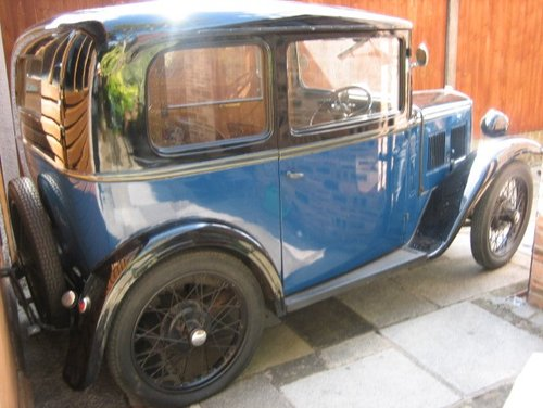 1933 Austin Seven Box Saloon SOLD (picture 1 of 3)
