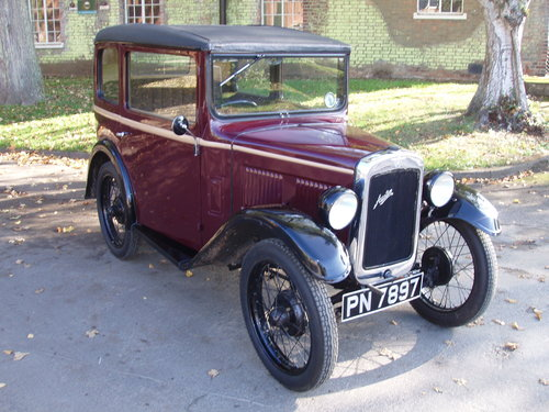1931 Austin 7 RM saloon For Sale (picture 1 of 6)