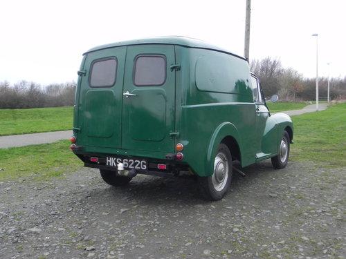 1969 Austin (morris minor )  6cwt van,  SOLD (picture 2 of 6)
