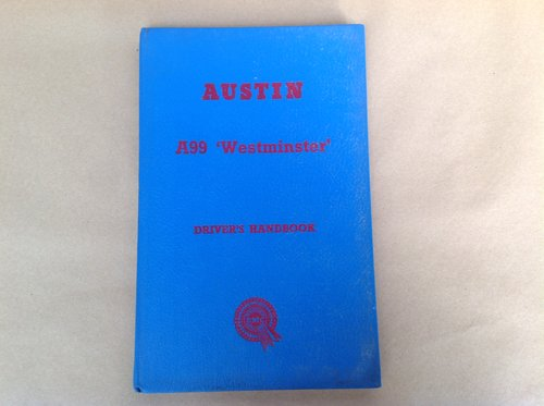 Austin A99 Westminster Handbook  For Sale (picture 1 of 2)