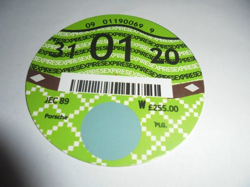 Road Tax Disc 2020. For Sale (picture 1 of 1)