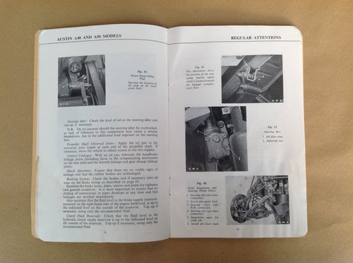 Austin A40 A50 Handbook For Sale (picture 2 of 2)