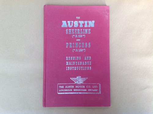 Austin Sheerline A125 & Princess Handbook For Sale (picture 1 of 2)
