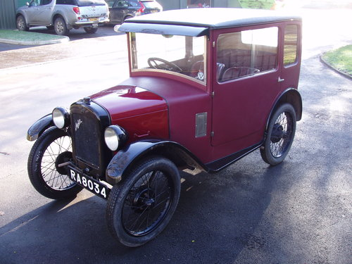 1929 Austin 7 RF fabric saloon For Sale (picture 1 of 6)