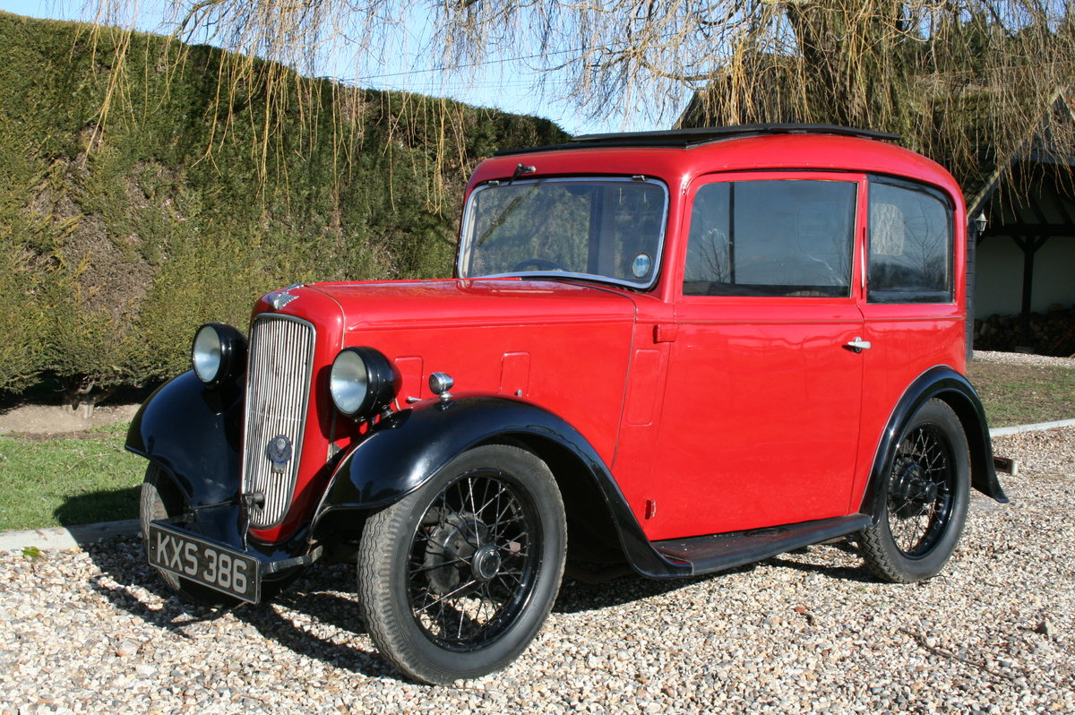 1933 Austin 7 Ruby Saloon. Excellent Condition Throughout For Sale (picture 1 of 6)