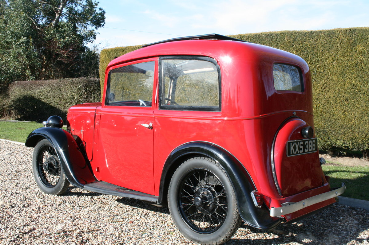 1933 Austin 7 Ruby Saloon. Excellent Condition Throughout For Sale (picture 4 of 6)