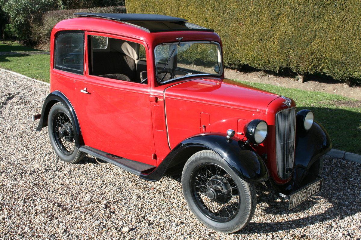 1933 Austin 7 Ruby Saloon. Excellent Condition Throughout For Sale (picture 5 of 6)