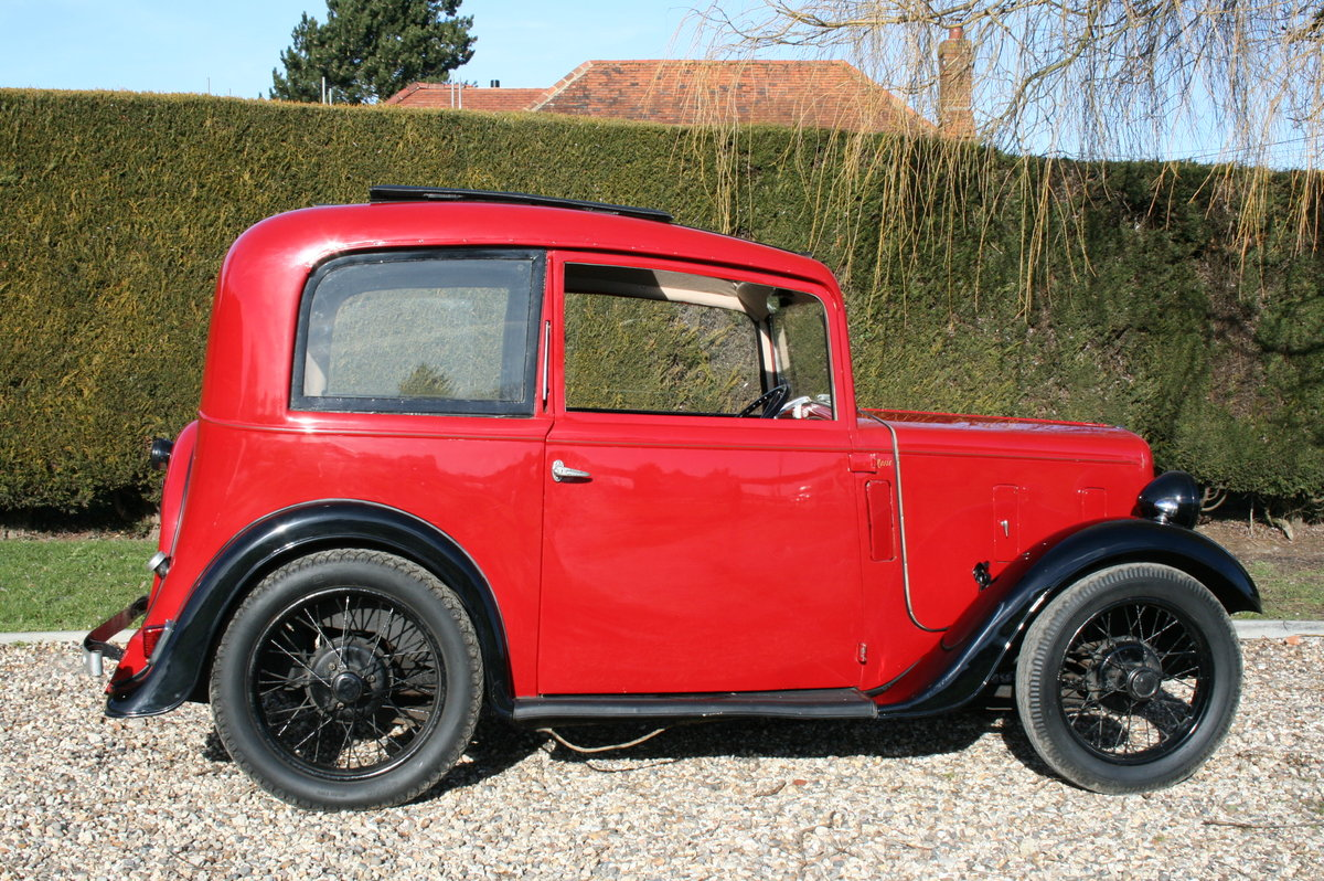 1933 Austin 7 Ruby Saloon. Excellent Condition Throughout For Sale (picture 6 of 6)