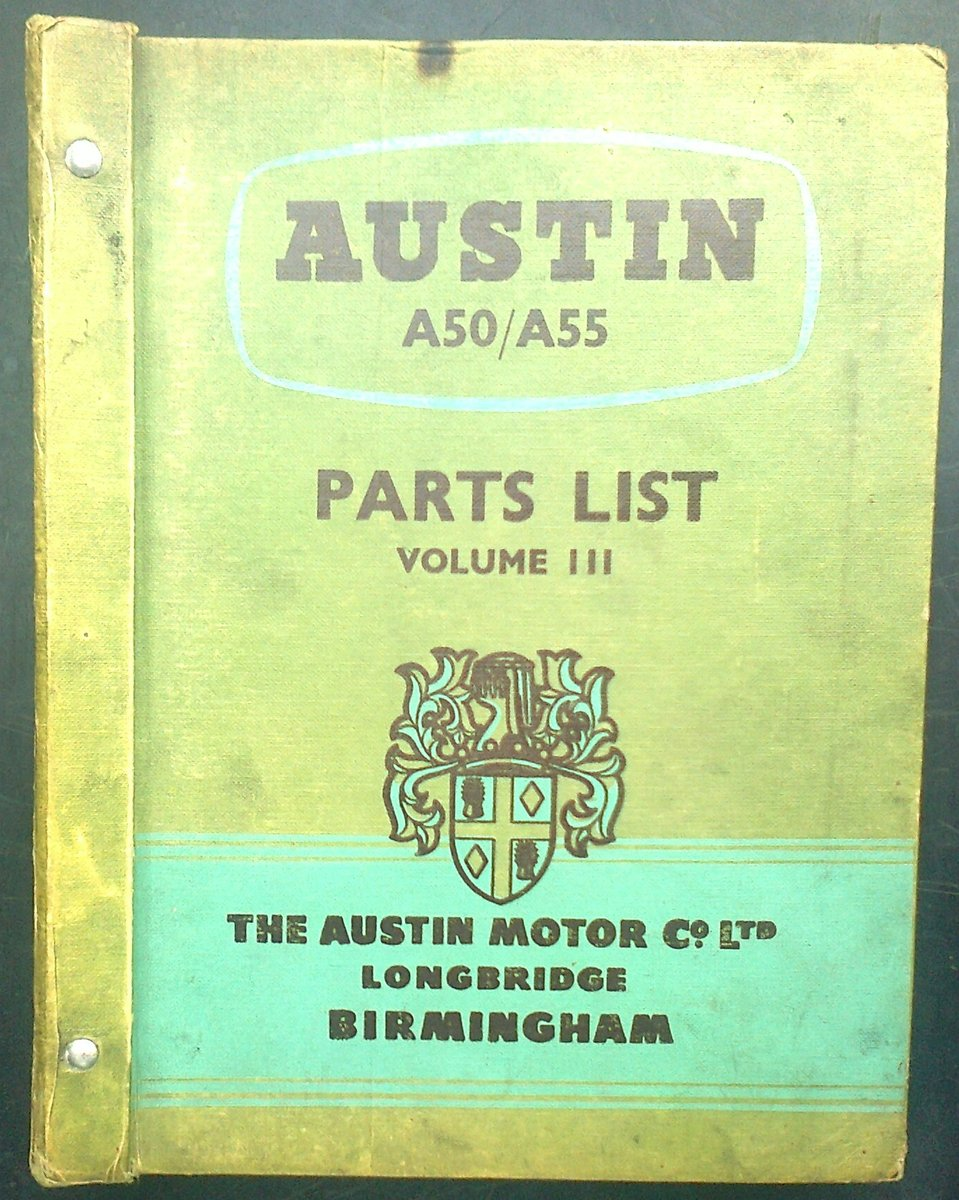 Genuine austin motor co a50/a55 parts list vol lll For Sale (picture 1 of 4)