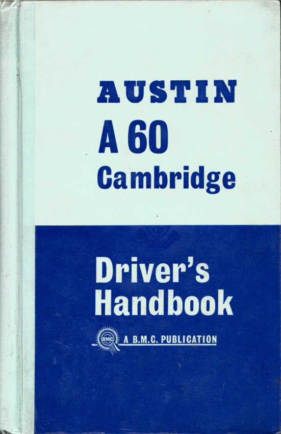 Official Austin A60 Cambridge Handbook 1963 For Sale (picture 1 of 1)