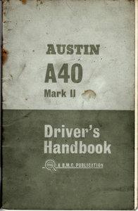 Official Austin A40 Mk ll Driver's Handbook 1963