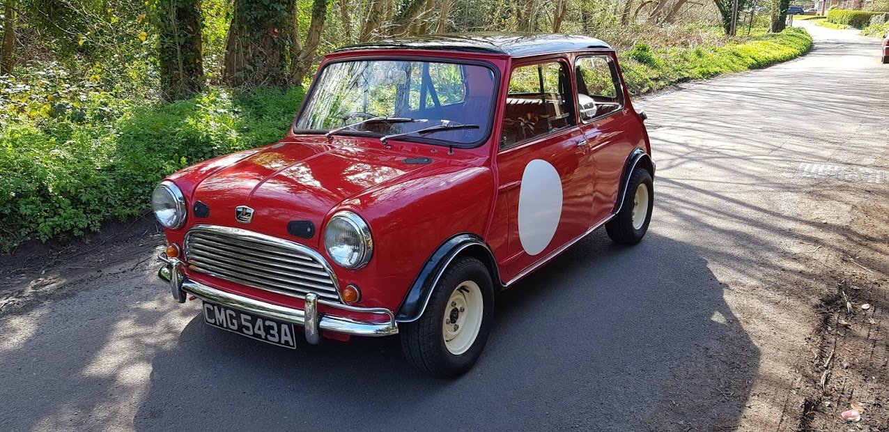 1963 Mk1 Austin Mini 850 Deluxe Tartan Red SOLD (picture 1 of 6)