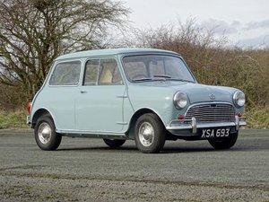 1963 Austin Mini 850 Super De Luxe For Sale by Auction