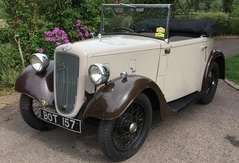 1936 Austin 7 Opal Tourer For Sale by Auction (picture 1 of 1)