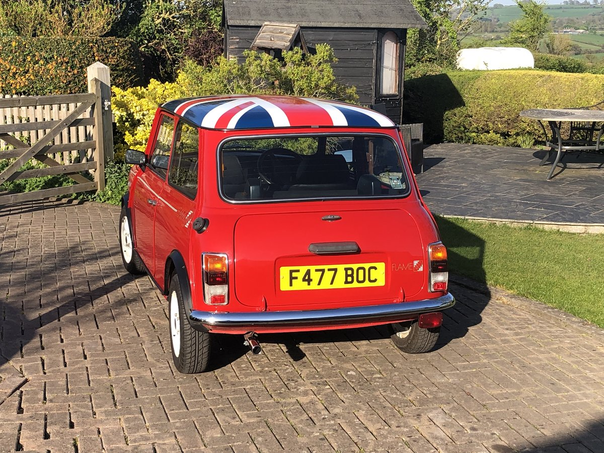 1989 Austin Mini Flame Red Limited Edition 998cc For Sale (picture 2 of 6)