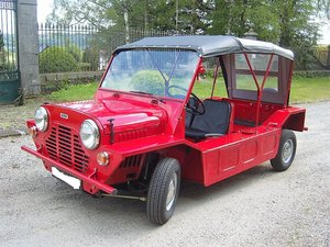 Austin Moke 1966 LHD  France with all her numbers.