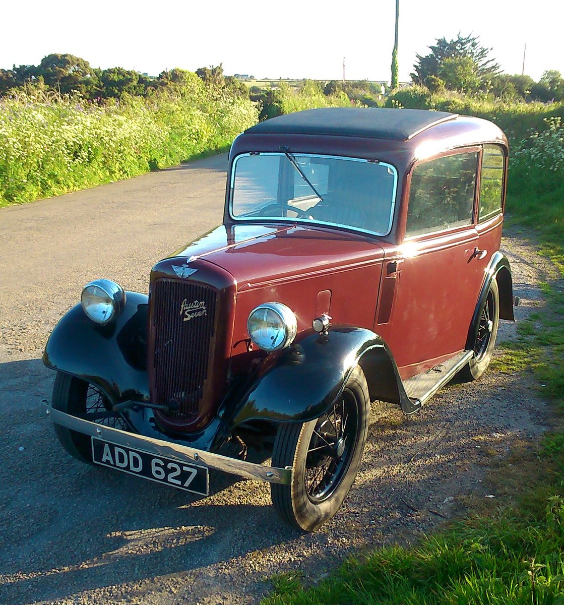 1935 AUSTIN 7 SEVEN MK 1 RUBY SALOON For Sale (picture 1 of 6)