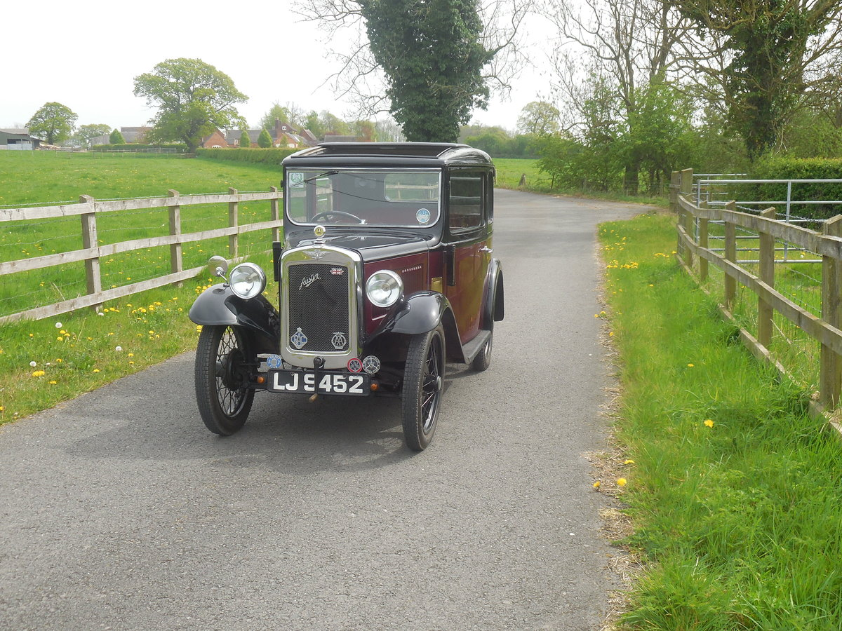 Austin 7 RP Box Saloon 1934 For Sale (picture 1 of 6)