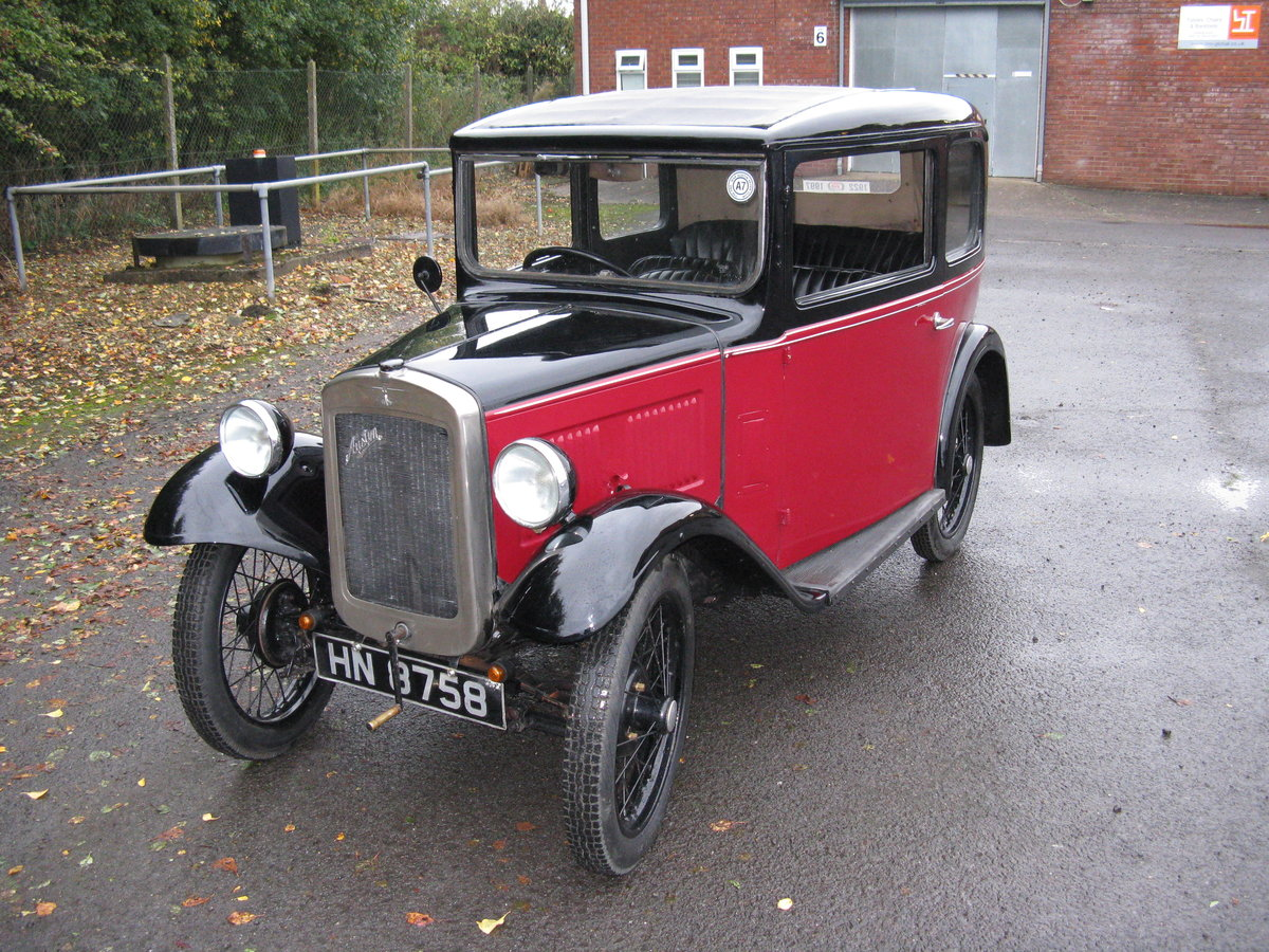 1932 Austin 7 RN Box saloon with sunroof. SOLD (picture 1 of 6)