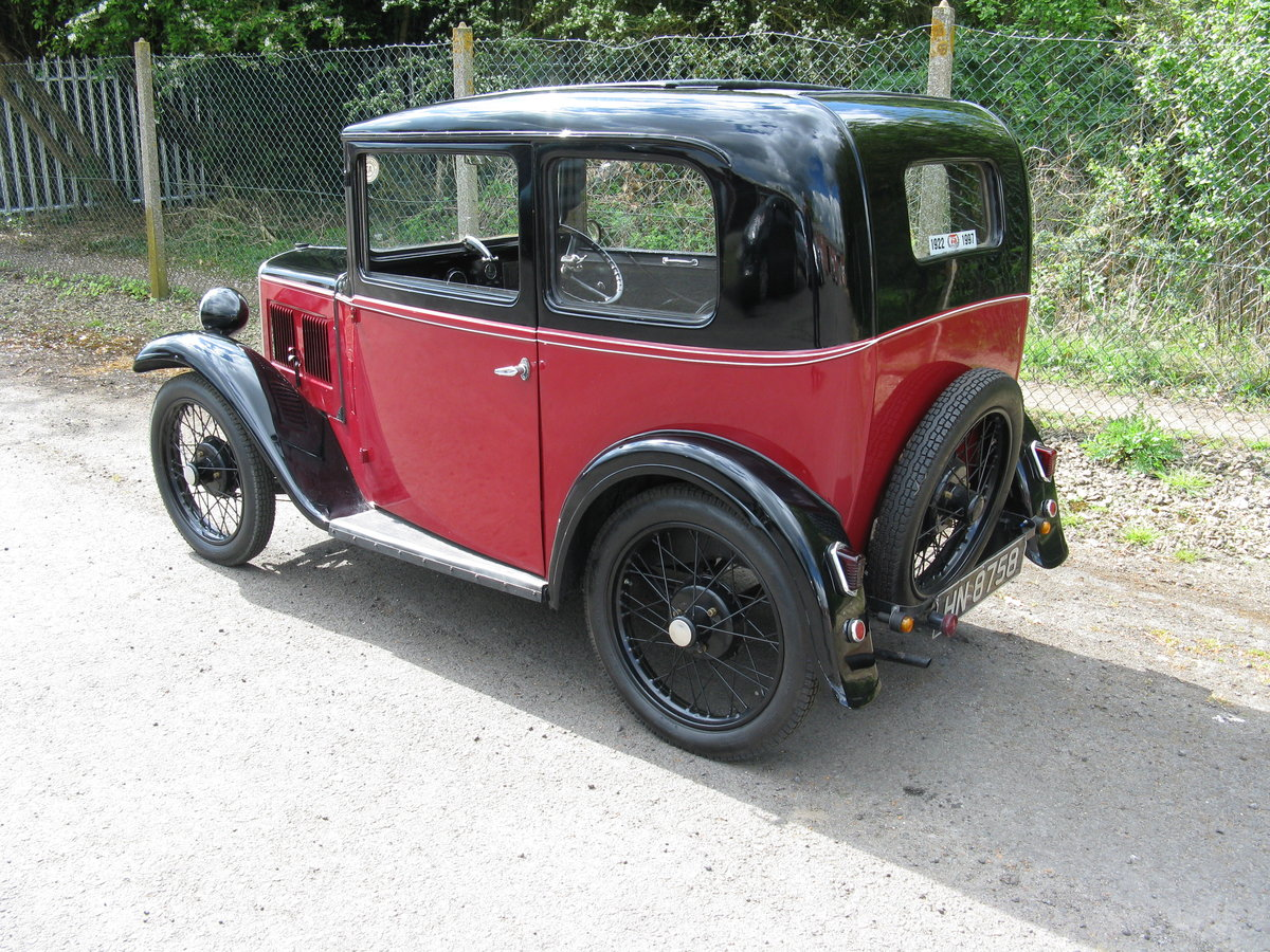 1932 Austin 7 RN Box saloon with sunroof. SOLD (picture 2 of 6)