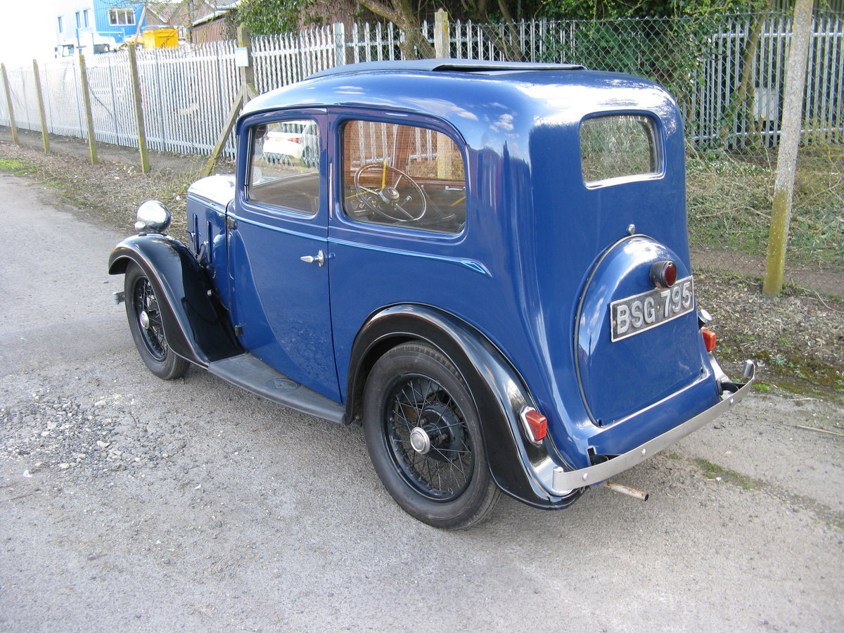 1937 Austin 7 Ruby Mk2 with sunroof SOLD (picture 2 of 6)