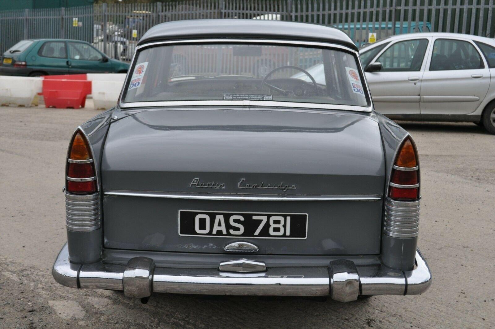 1961 AUSTIN CAMBRIDGE A55 FARINA TAX & MOT EXEMPT GRAMPIAN GREY For Sale (picture 3 of 6)